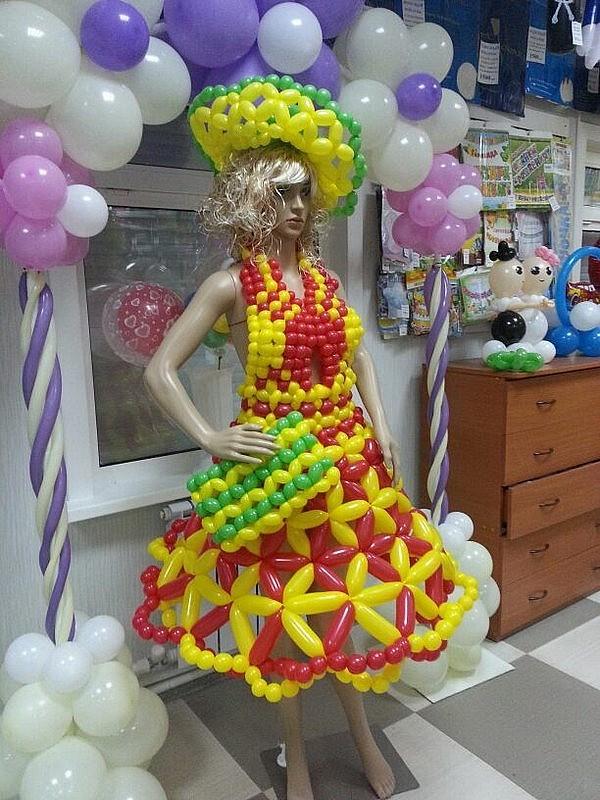 платье из шариков фото кэжуал под